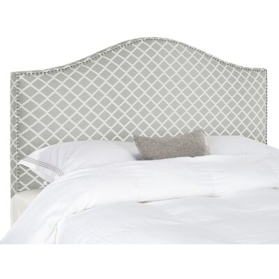 Connie Full Upholstered Panel Headboard Upholstery: White / Gray