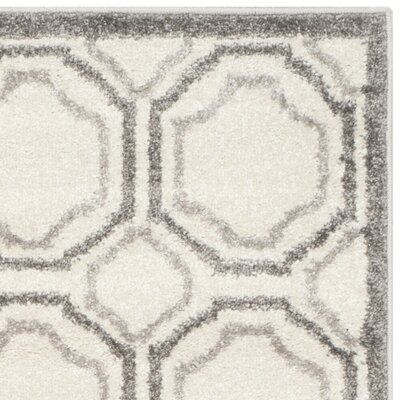 Maritza Ivory & Cream Area Rug Rug Size: Rectangle 26 x 4