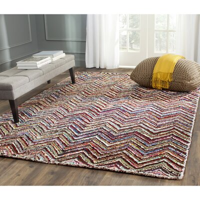 Anaheim Hand Tufted Chevron Area Rug Rug Size: Rectangle 9 x 12