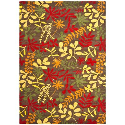 Soho Light Dark Brown / Multi Contemporary Rug Rug Size: 5 x 8
