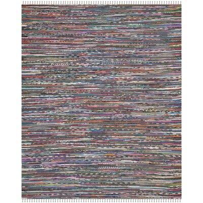 Rag Hand-Woven Gray Area Rug Rug Size: 8' x 10'