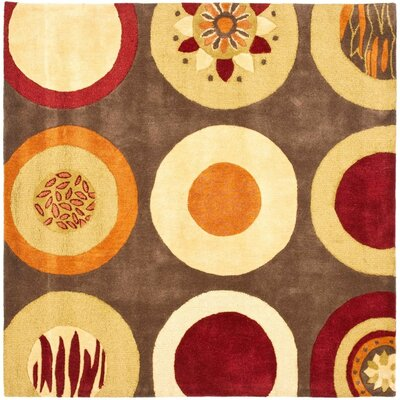 Soho Brown / Light Dark Multi Contemporary Rug Rug Size: Square 6'