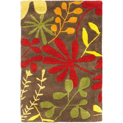 Soho Light Dark Brown / Multi Contemporary Rug Rug Size: Rectangle 2 x 3