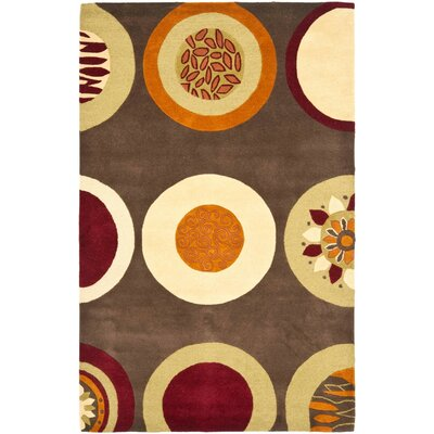 Soho Brown / Light Dark Multi Contemporary Rug Rug Size: 5 x 8