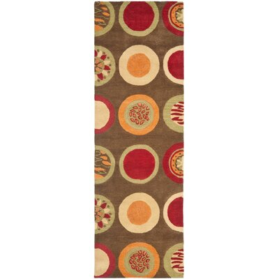 Soho Brown / Light Dark Multi Contemporary Rug Rug Size: Runner 26 x 8