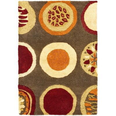 Soho Brown / Light Dark Multi Contemporary Rug Rug Size: 2 x 3