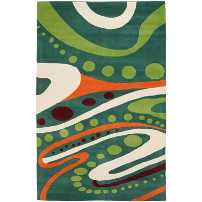 Soho Teal / Multi Contemporary Rug Rug Size: Rectangle 5' x 8'