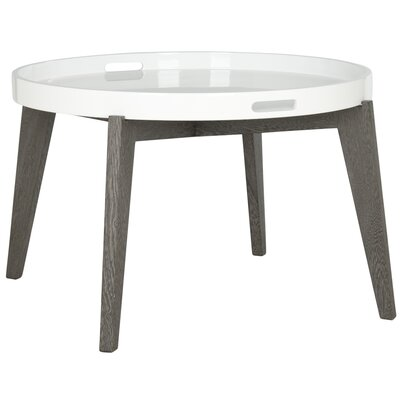 Echo End Table Color: White / Dark Brown