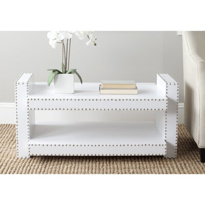 Garson Console Table Color: White