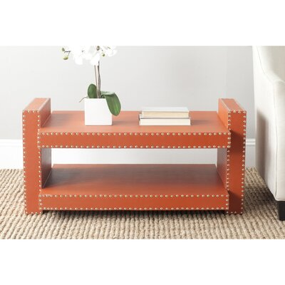 Garson Console Table Color: Orange