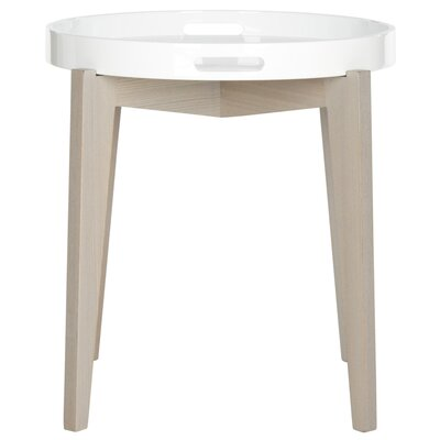 Ben End Table Finish: White and Grey