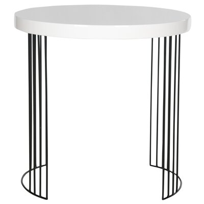 Kelly End Table Color: White and Black