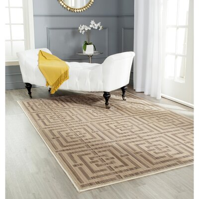 Infinity Brown Area Rug Rug Size: Rectangle 4 x 6