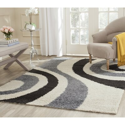 Safavieh Shag Ivory & Grey Contemporary Area Rug