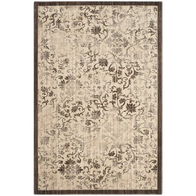 Infinity Swirl Brown/Beige Area Rug Rug Size: Rectangle 4 x 6