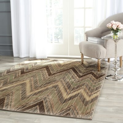 Infinity Chevron Taupe/Beige Area Rug Rug Size: Rectangle 51 x 76