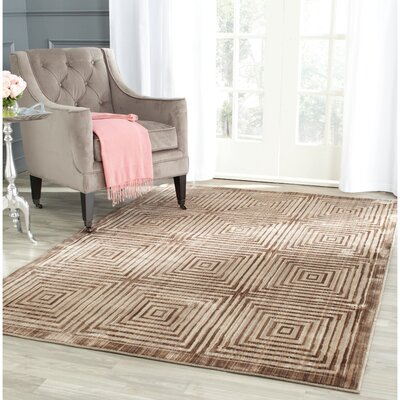 Infinity Geometric Brown/Beige Area Rug Rug Size: Rectangle 9 x 12