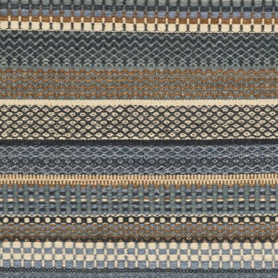Kilim Blue Striped Contemporary Rug Rug Size: 6 x 9