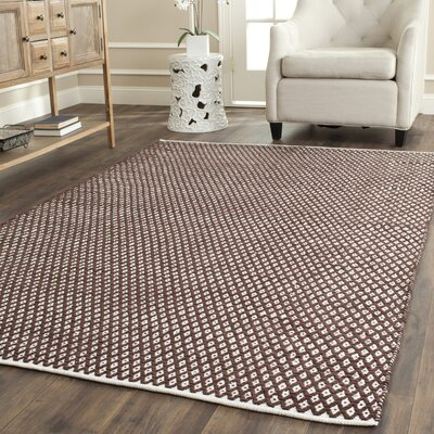 Boston Hand-Woven Cotton Brown Area Rug Rug Size: Square 4