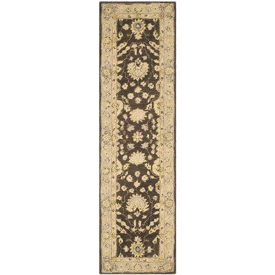 Anatolia Chocolate/Ivory Area Rug Rug Size: Runner 23 x 8