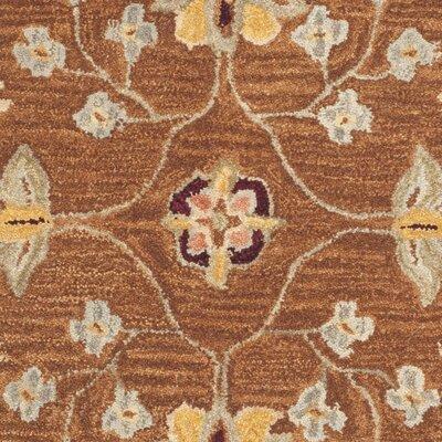 Anatolia Tan/Ivory Area Rug Rug Size: Round 6