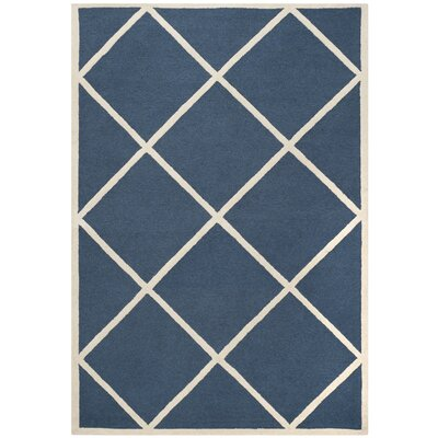 Cambridge Navy/Ivory Area Rug Rug Size: 8' x 10'