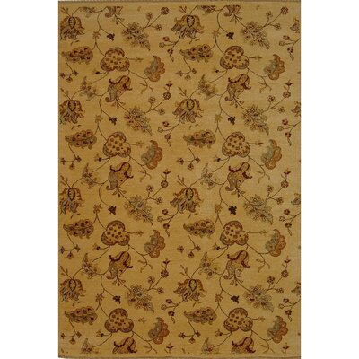 Agra Beige Area Rug Rug Size: Rectangle 4 x 6