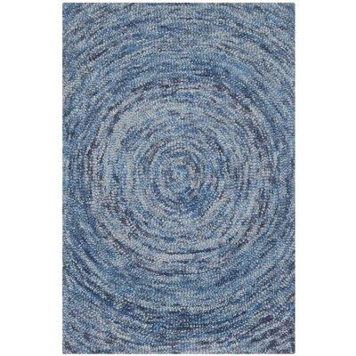 Ikat Dark Blue Area Rug Rug Size: 3' x 5'