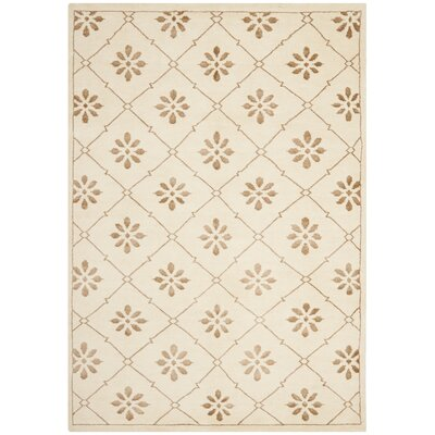 Mosaic Cream / Light Brown Rug Rug Size: 4 x 6