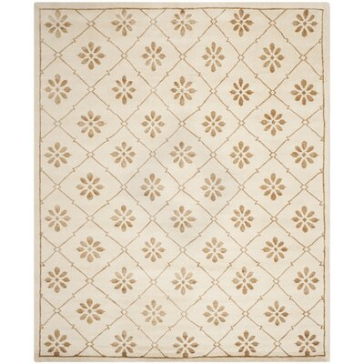 Mosaic Cream / Light Brown Rug Rug Size: Rectangle 9 x 12