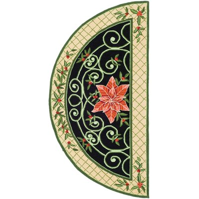 Isabella Green/Beige Novelty Rug Rug Size: 2 x 4