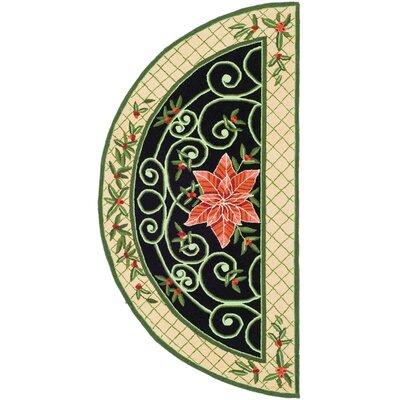 Kinchen Green/Beige Novelty Rug Rug Size: Rectangle 2 x 4