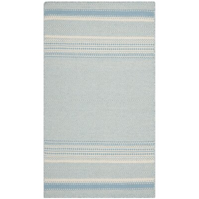 Kilim Hand-Woven Wool Light Blue/Ivory Area Rug Rug Size: Rectangle 3 x 5