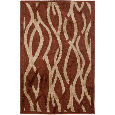 Kashmir Rust / Ivory Rug Rug Size: Rectangle 4 x 6