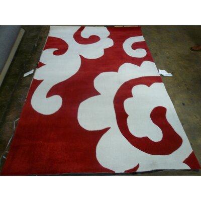 Modern Art Red / Ivory Original Rug Rug Size: Rectangle 5 x 8