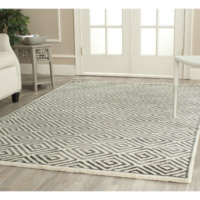 Mosaic Ivory / Grey Geometric Rug Rug Size: Rectangle 9 x 12
