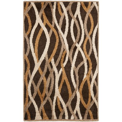 Kashmir Brown / Multi Rug Rug Size: 3 x 5