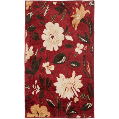 Kashmir Red / Ivory Rug Rug Size: Rectangle 3 x 5