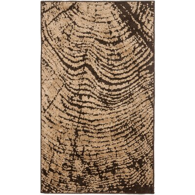 Kashmir Brown / Beige Rug Rug Size: Rectangle 4 x 6