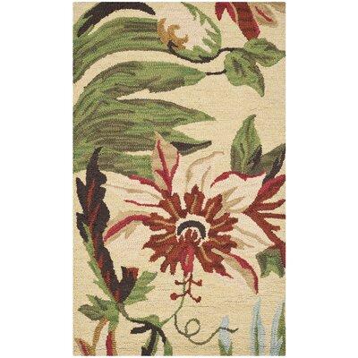 Jardin Ivory / Multi Floral Area Rug Rug Size: 5' x 8'