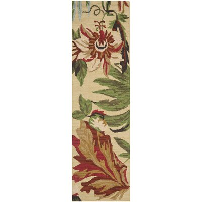 Jardin Ivory / Multi Floral Area Rug Rug Size: Rectangle 4 x 6