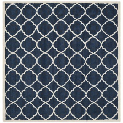 Chatham Blue/Ivory Moroccan Area Rug Rug Size: Square 7'