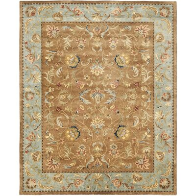 Bergama Brown/Blue Area Rug Rug Size: 96 x 136