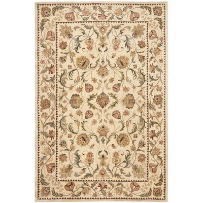 Bergama Ivory Area Rug Rug Size: Rectangle 96 x 136