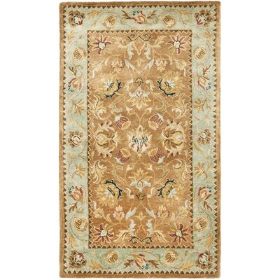 Bergama Brown/Blue Area Rug Rug Size: 2 x 3