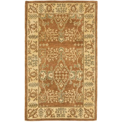 Bergama Light Brown/Beige Area Rug Rug Size: 4 x 6