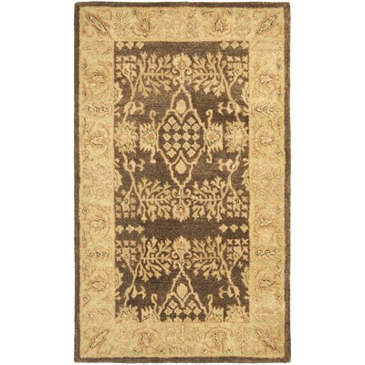 Bergama Brown/Green Area Rug Rug Size: 4' x 6'