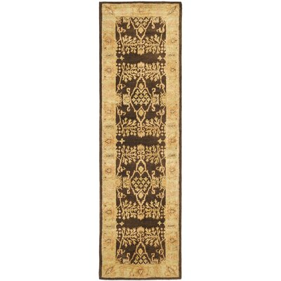 Bergama Brown/Green Area Rug Rug Size: Runner 23 x 12