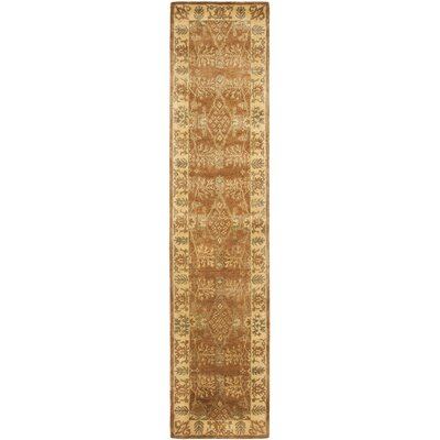 Bergama Light Brown/Beige Area Rug Rug Size: Runner 23 x 12