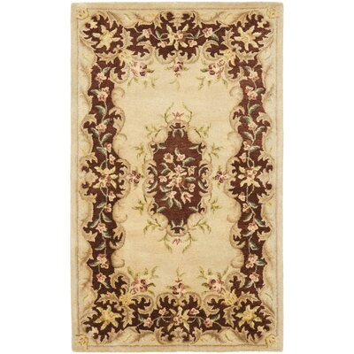 Bergama Ivory/Rust Area Rug Rug Size: Rectangle 6 x 9